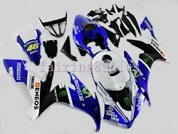 Blue Black White Movistar Abs Injection Fairing Kit Fit For 2004-2006 Yzf R1