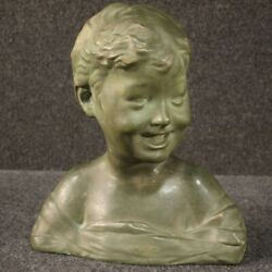 Sculpture Child Bust In Terracotta Object Statue Art Antique Style 900