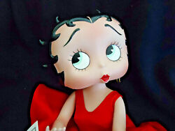 Vtg 1995 Danbury Mint Betty Boop Porcelain Doll 14 And Stand Very Find Hand