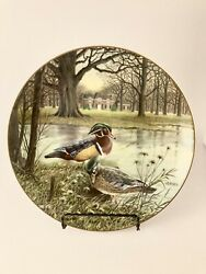 Edwin M Knowles China Co 1987 The Wood Duck Plate By Bart Jerner W/ Certificate