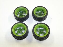 New Hpi Rs4 Sport 3 Wheels And Tires Spec-grip 26mm Work Meister S1 Green Hh13m