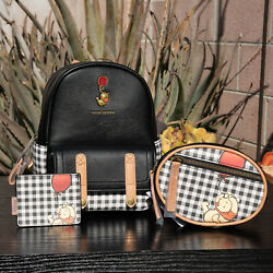 Loungefly Disney Winnie The Pooh Plaid Mini Backpack Fanny Pack And Cardholder Set