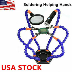 Helping Hands Third Hand Soldering Tool 6 Flexible Arms 6 Arm Magnifier Tool