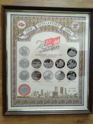 Singapore 25 Years Of Nation Building 1959-1984 Commemorative Medals