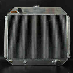 3row Aluminum Radiator Fit 66-79 Ford Truck Chevy Engine 62mm At Mt 833 Spawon