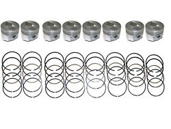 8 Cast Aluminum Pistons With Rings 1966-1970 Ford 390 And 66 67 68 69 70 Mercury