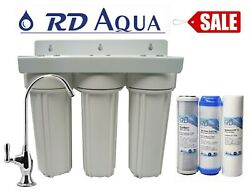 3 Stage Drinking Water Filter 1/4 Port Under Sink System Holiday Sale