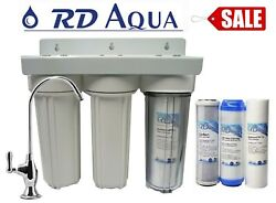 3 Stage Drinking Water Filter 1/4 Port Under Sink System Holiday Sale Special