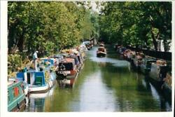 Grand Union Canal And Houseboats. - Vintage Photograph 1312736