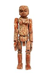 Antique Traditional Unique Figure Puppet Wooden Carved Collectible Indian Decor