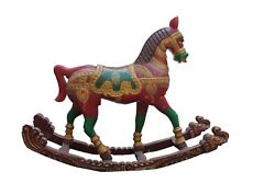 Vintage Horse Statue Wood Carved Figurine Sculpture Handcrafted Home Decor Gifts