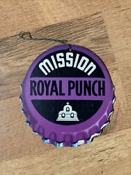 1940s Mission Royal Punch Soda Die Cut Promo Fan Light Pull Sign