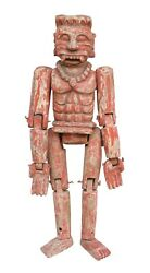 Antique Traditional Unique Figure Puppet Wooden Carved Collectible Decorative
