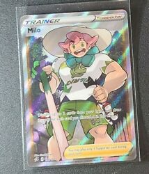 Pokemon Milo Trainer 190/192 Full Art Ultra Rare Card Rebel Clash Psa 10 Mint
