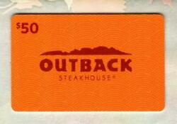 Outback Steakhouse Collectible 2013 Gift Card 0 - No Value