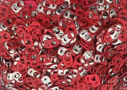 1800 Aluminum Red Pull Tabs Pop Tops From Soda And Beer Cans Crafts