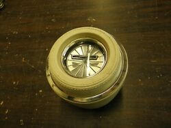 Nos Oem Ford 1967 Galaxie 500 Steering Wheel Horn Pad Parchment