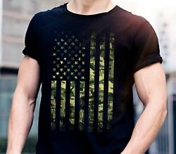 Camo American Flag Usa Military Tactical Camouflage Patriotic shirts for men