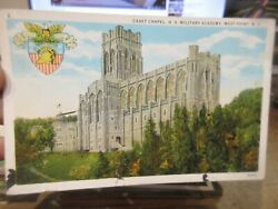 Vintage Old Postcard New York West Point Cadet Chapel Us Military Academy 1934
