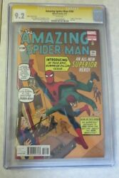 Amazing Spider-man 700 Cgc 9.2 Signed By Stan Lee Ditko Variant Cover White Pgs