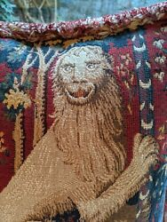Pair of really fabulous vintage tapestry pillows feather fillers included
