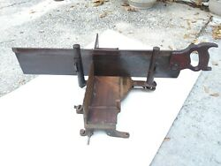 Vintage Stanley No. 2358 Adjustable Miter Box And Disston Saw And The Saw Stop. Nr
