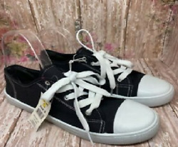 Ladies Size 8, Black Canvas Shoes, Same Day Or Next Day Shipping.