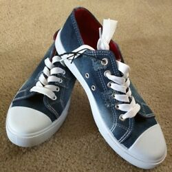 Ladies Size 6, Jean Canvas Shoes, Same Day Or Next Day Shipping.