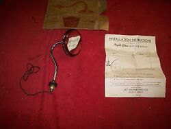 Vintage 1940and039s 50and039s Nos Night-glow Rear View Mirror W/illuminated Rim Gm Ford
