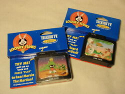 Lot 2 Acme Wb Looney Tunes Talking Tv Refrigerator Magnets Bugs Bunny And Marvin