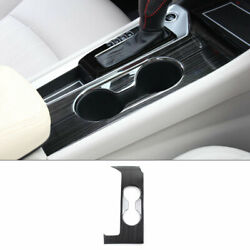Black Titanium Middle Console Water Cup Frame Trim For Nissan Altima 2019-2021