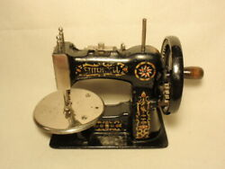 Vtg Childandrsquos Toy Sewing Machine Hand Crank Stitchwell As-is