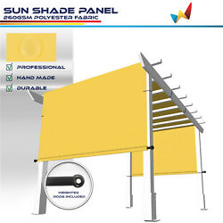 Large Waterproof Replacement Pergola Cover Sun Shade Sail For Deck Patio Yellow