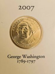 Complete Set Presidential Dollar Coins With Album 2007 - 2016 39 Coins