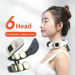 Electric Cervical Neck Massager Body Shoulder Relax Heating Massage Relief Pain
