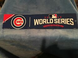 Chicago Cubs World Series Plastic Street Sign New
