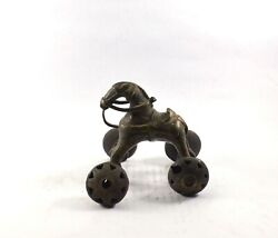 Horse Brass Toy Wheels Indian Antique Vintage Old Decorative Collectible Piece