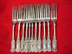 Romanesque Pattern - Wm. Rogers And Son - Group Of 11 Dinner Forks - Nice, No Mono