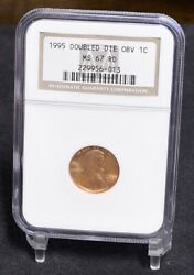 1995 Lincoln Cent - Double Die Obv, Ddo - Ngc Ms67rd 34335