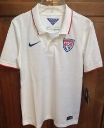 Nike Us Soccer Usa Jersey 2014 World Cup White Home Boys Youth L Nwt 75 578018