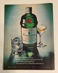 1977 Tanqueray Gin Print Ad Own A Bottle It's Worth The Price London England
