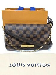 Louis Vuitton Favorite Pm Damier Ebene Crossbody Clutch Discontinued /sold Out