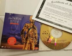 Rare Michael Jackson History Dual Signed Cd And Cover With Coa