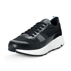 Car Shoe By Prada Men#x27;s Black Suede Leather Fashion Sneakers Shoes $269.99