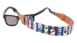 Beer Can Needlepoint Sunglass Strap Sunglass Retainer By Huck Venture