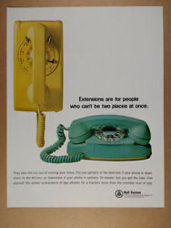 1965 Bell System Extension Telephones Wall Princess Phones Vintage Print Ad