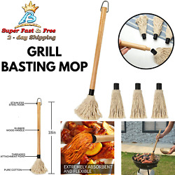 Bbq Sauce Brush Basting Grill Steak Basting Mop With Refill Heads Dip Spreader