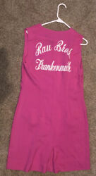 Rau Bros Frankenmuth Mi Embroidered Pink Candy Making 5 Button Smock Brothers