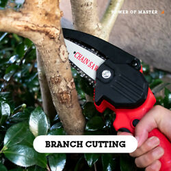 Lithium Battery Rechargeable Small Electric Chain Saws Garden Logging Saw USA