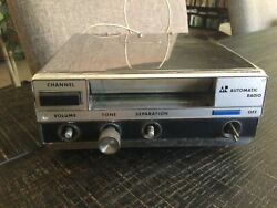 Vintage Automatic Radio 8 Eight Track Under Dash Tape Player Cfe-6745a Chrome